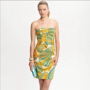 Trina Turk for Banana Republic Yellow Pieces Dress
